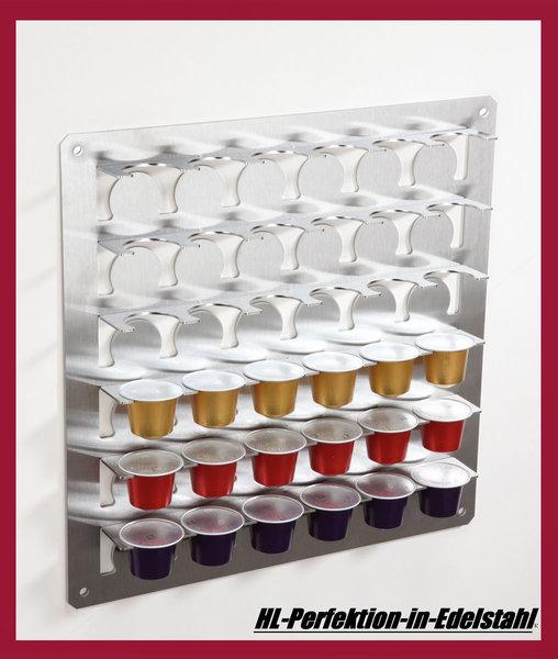 nespresso kapselhalter kapselspender edelstahl f r 36 kapseln. Black Bedroom Furniture Sets. Home Design Ideas